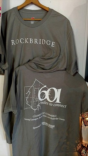 Rockbridge 601 gray t-shirts