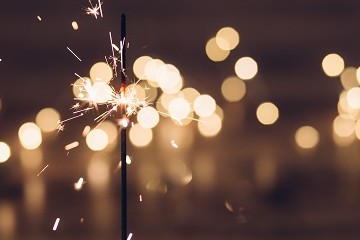 Sparkler with blurred background