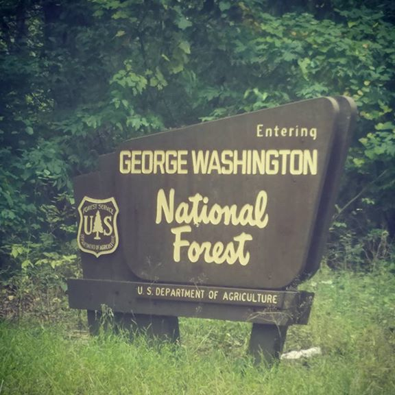George Washington National Forest Entry Sign