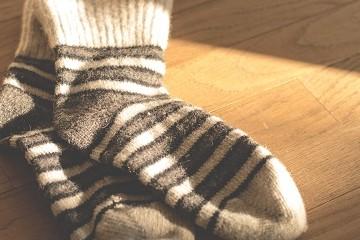 Striped wool socks