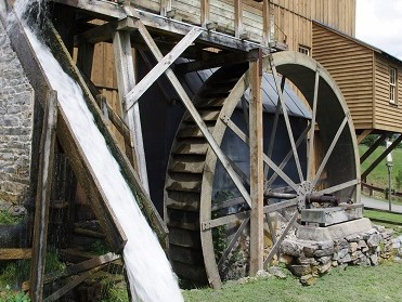 Wade's Mill's water wheel