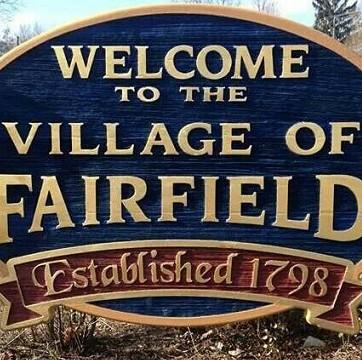 Village of Fairfield Sign