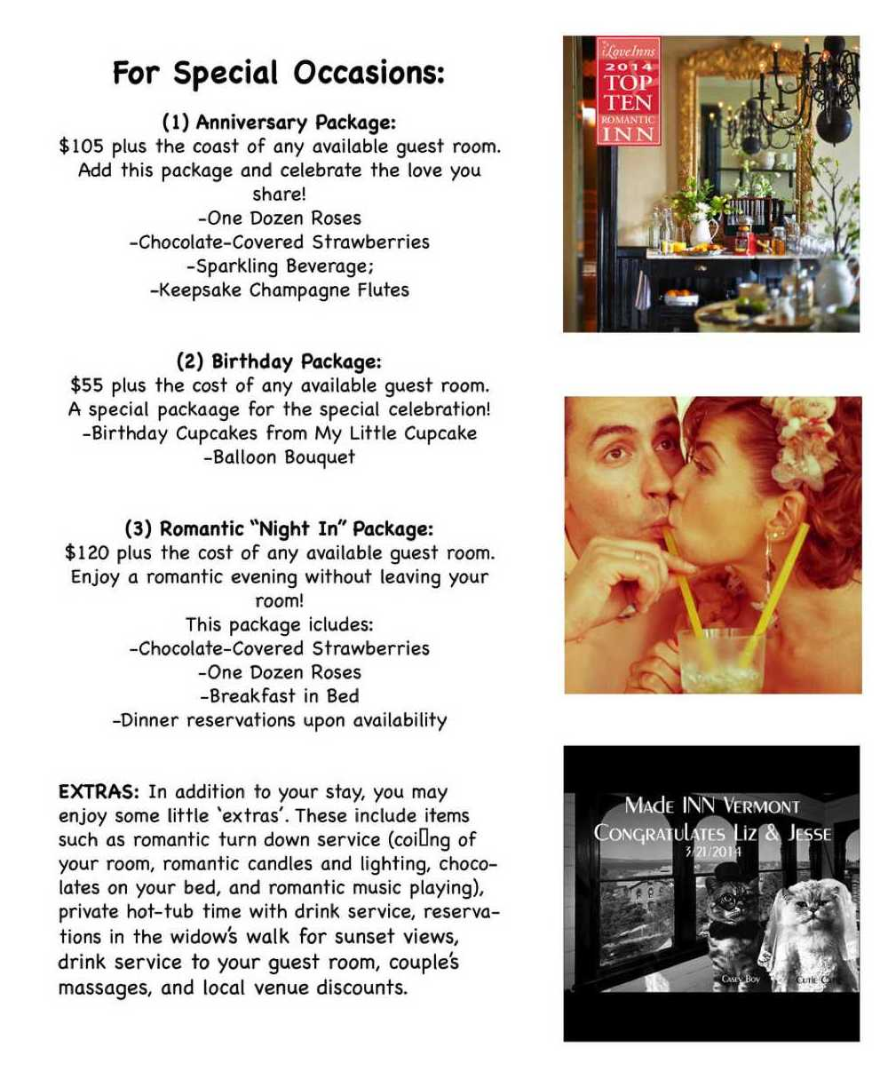 MIV Romance Packages