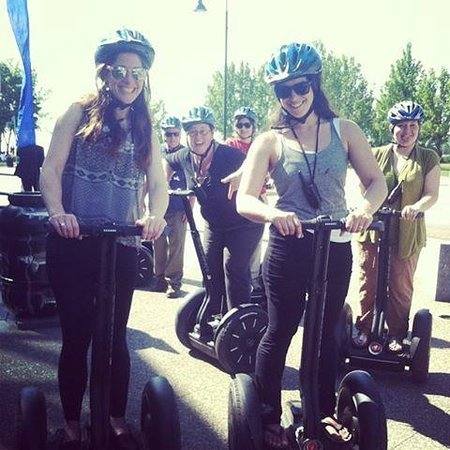Girls on a Segway
