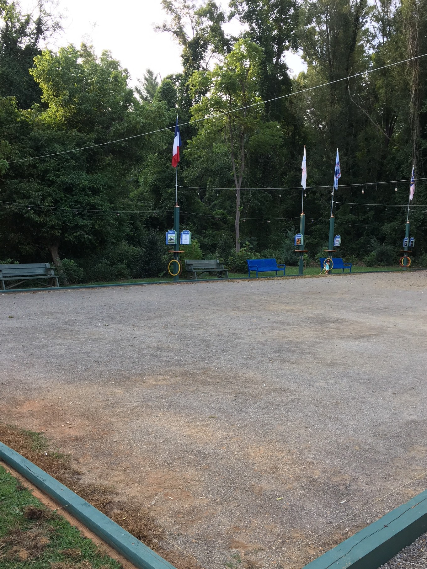 Petanque courts at Rendezvous