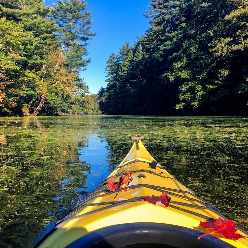 kayak on Lake lure