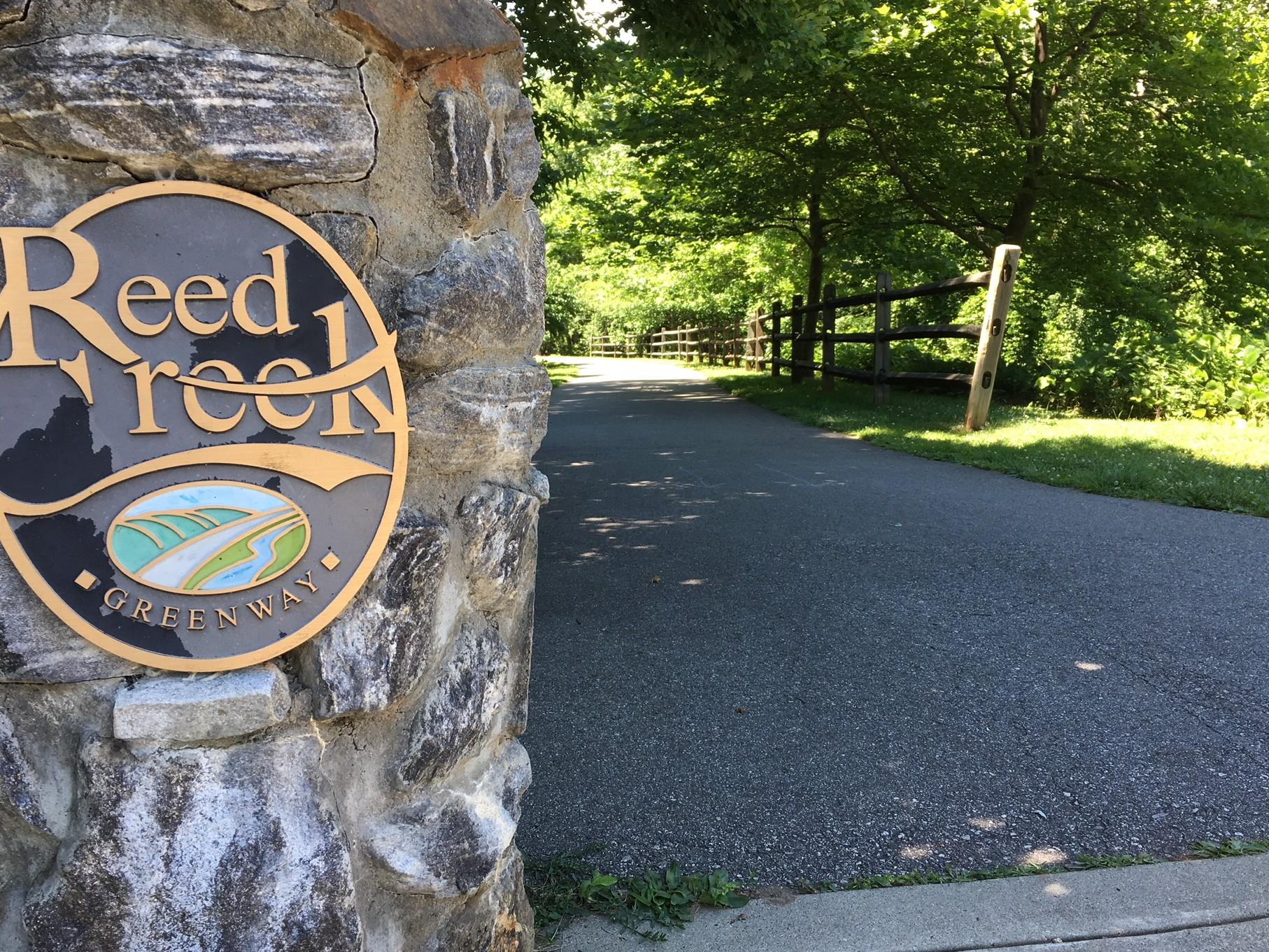 Reed Creek Greenway walking trail in Asheville