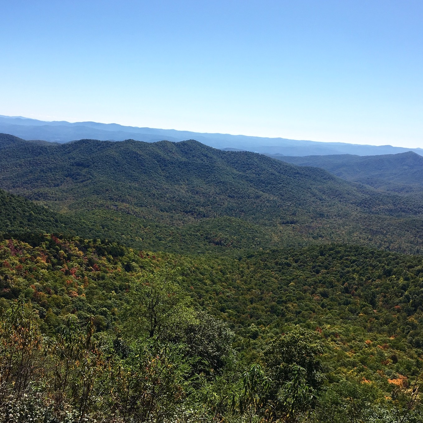 view of  mountains sunny day from Mount Pisgah