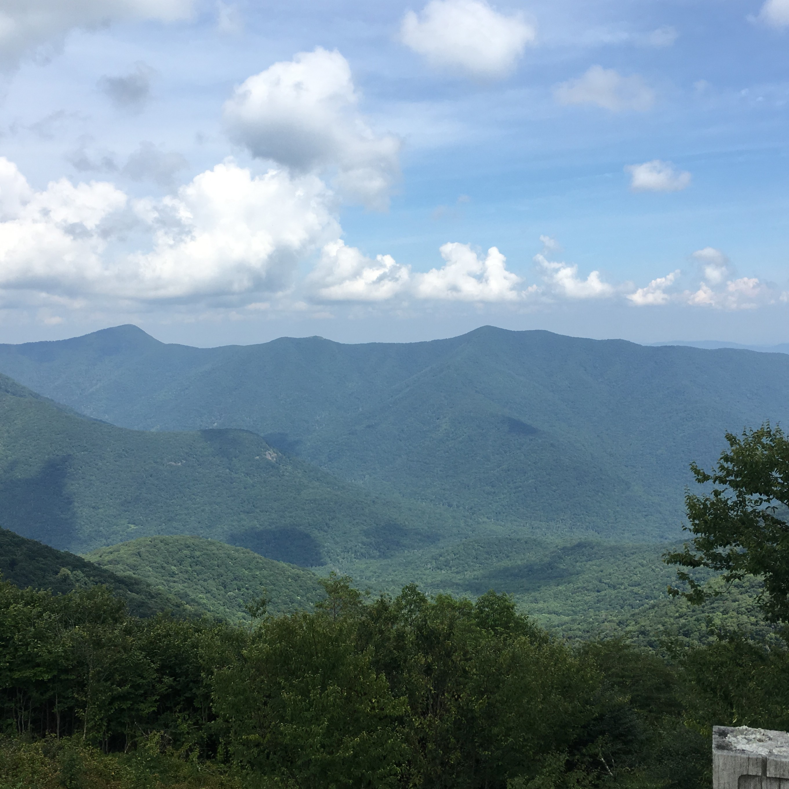 Views of mountains from Mt Mitchell NC