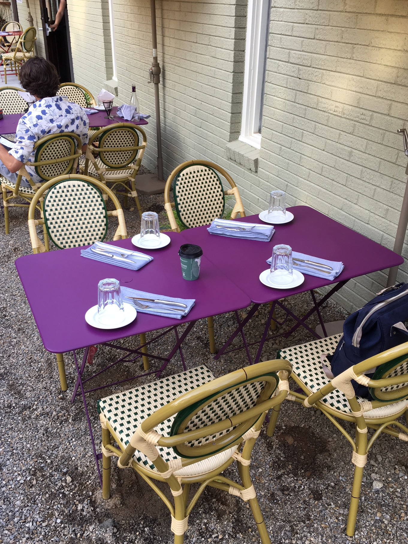 outdoor table for 4 at Rendezvous