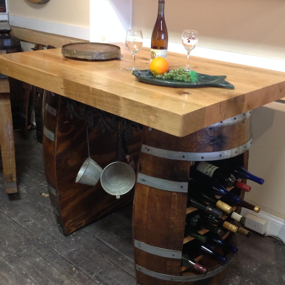 Repurposed Wine Barrel