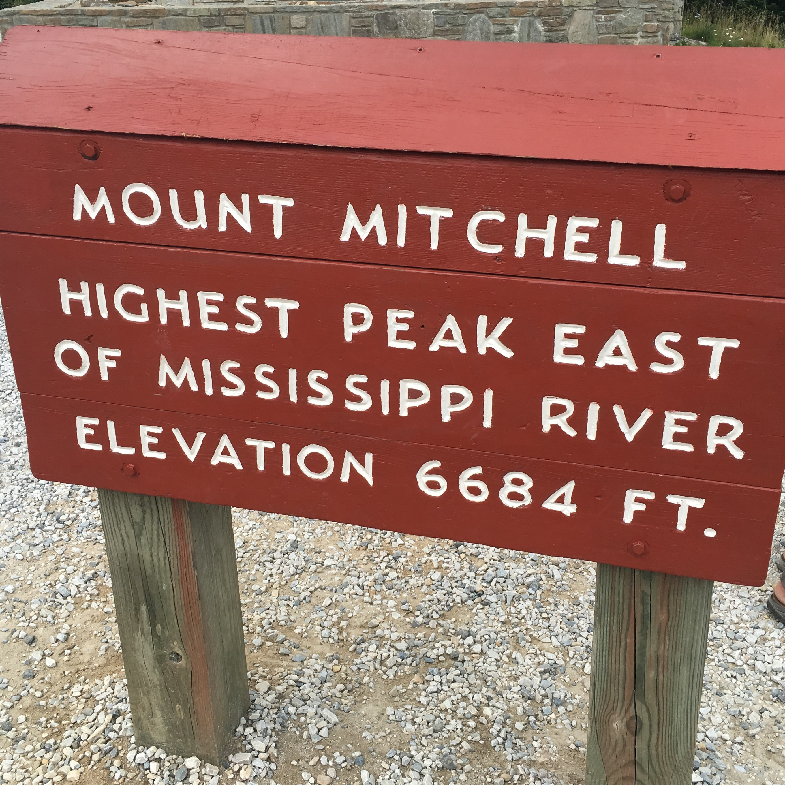Sign at Mount Mitchell