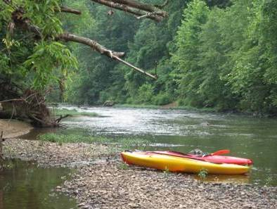 Kayaking on the Rapidan