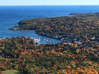 Camden Harbor from Mt. Battie