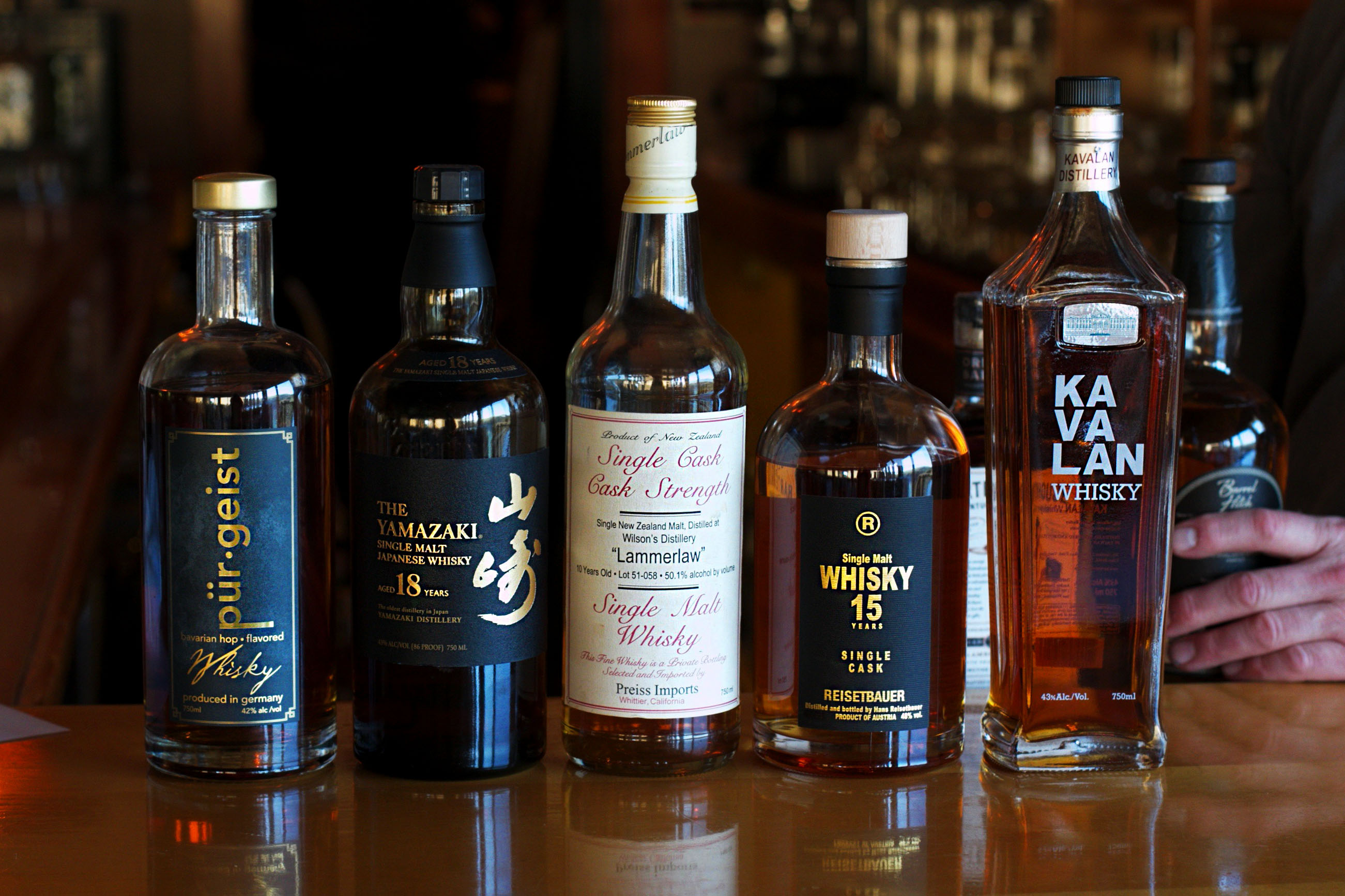 albion River Inn Bar Whiskey Collection