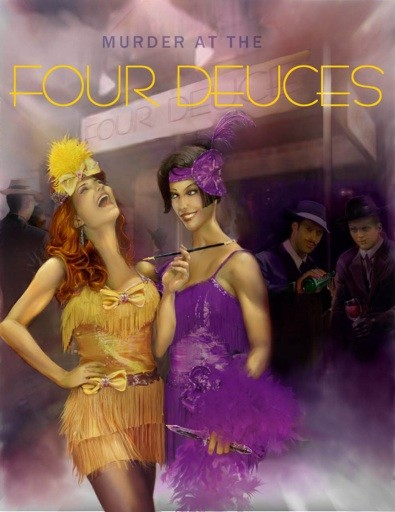 Murder at the Four Deuces image of two 1920s women and men