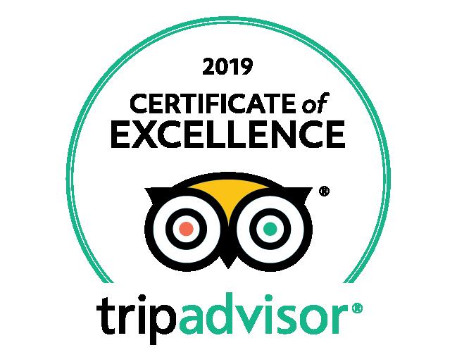 TripAdvisor 2019 Certificate of Excellence