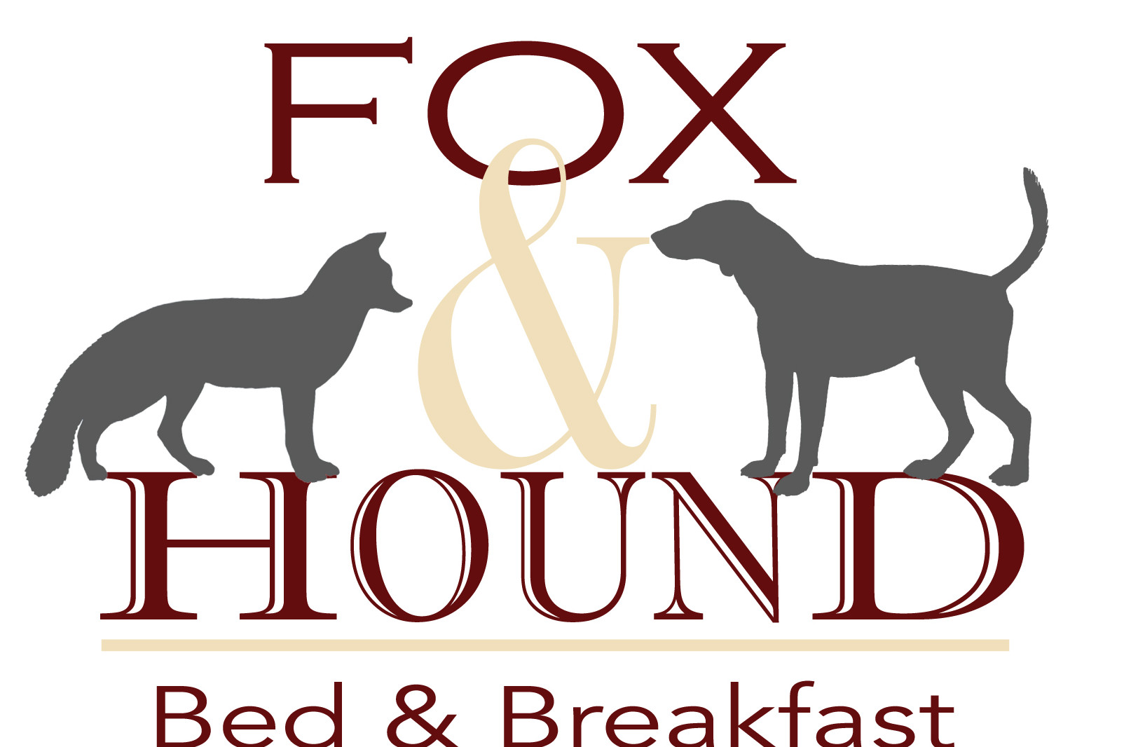 logo of fox and hound w pic of fox and hound shadowed