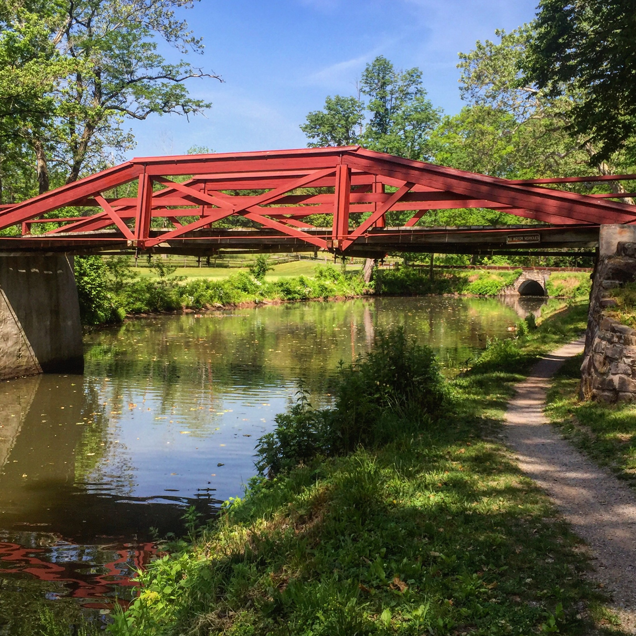 Peaceful Country Bridge on the Delaware Canal