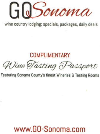 sonoma wine tasting passport