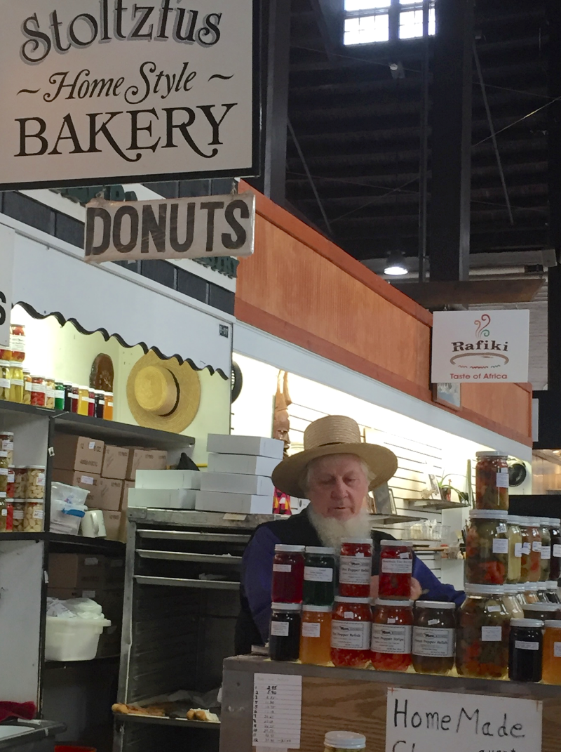 Amish stand featuring baked goods
