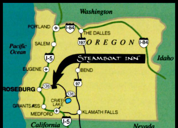 Umpqua Oregon Map.Contact Us Steamboat Inn On Oregon S Umpqua River