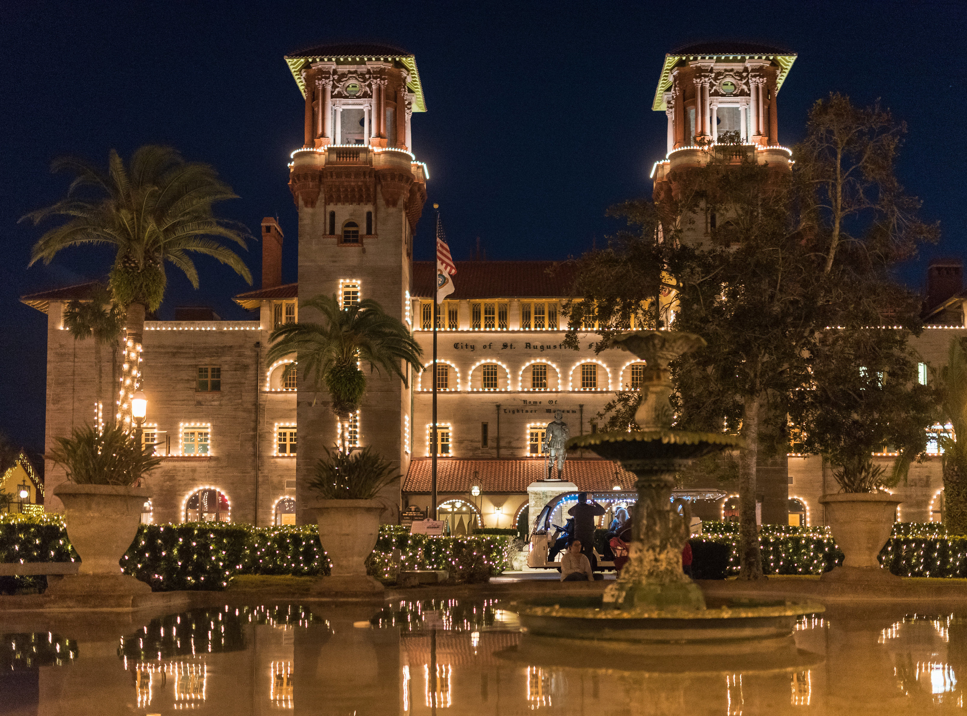 Lightner Museum holiday lights