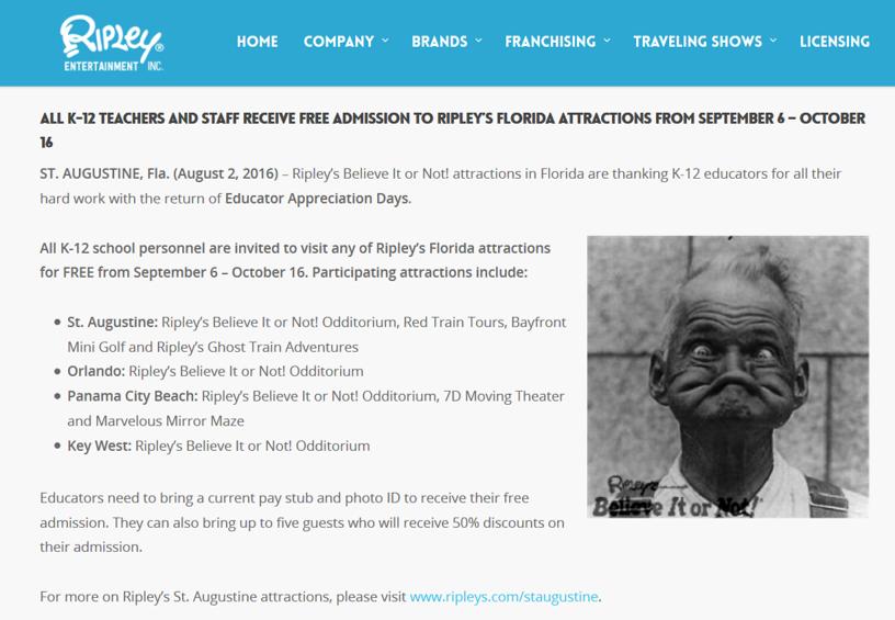 Ripley's Teachers Appreciation