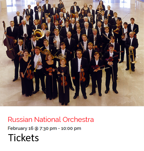 Russian Orchestra ad for Emma Concerts on Feb 16