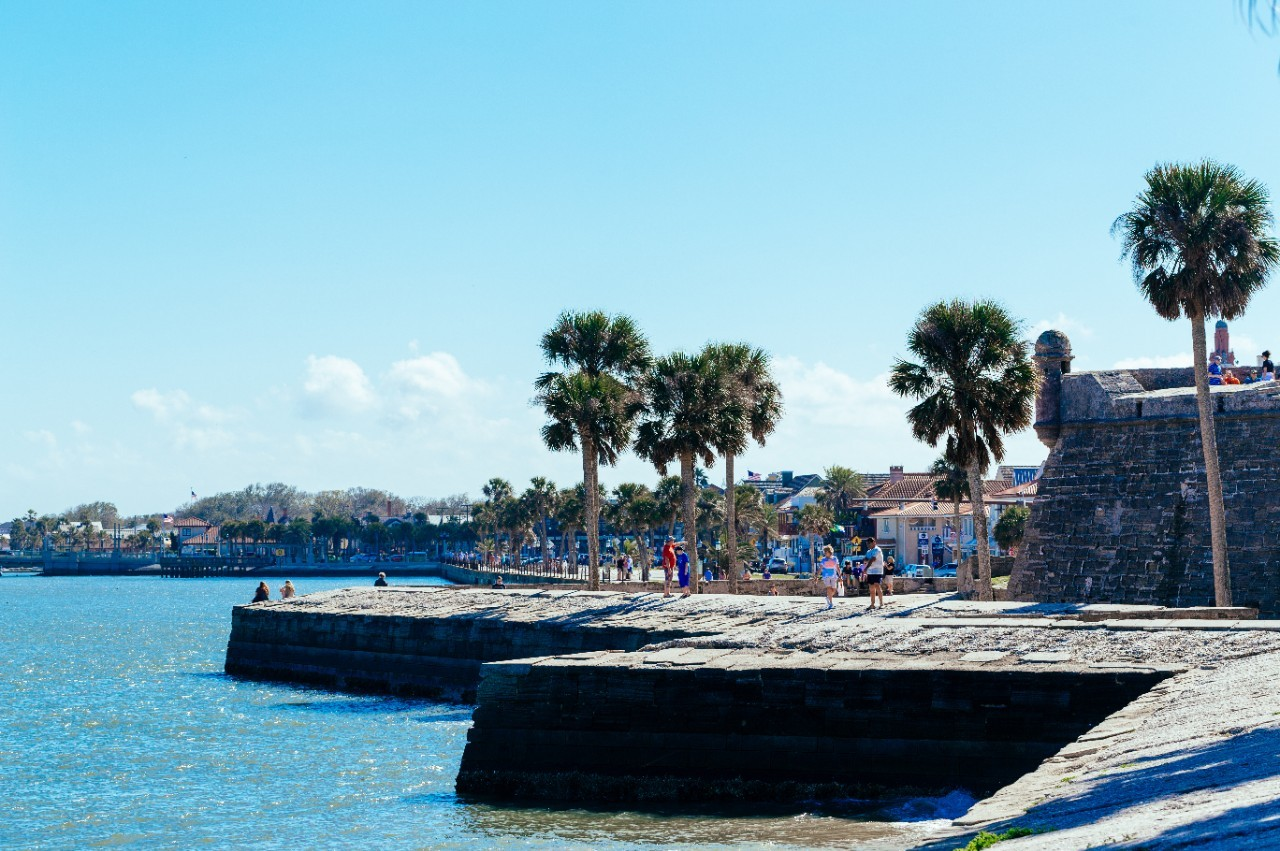 Castillo de San Marcos from the water looking south