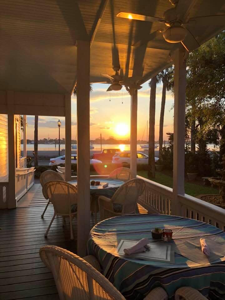Best Breakfast Spot on the bayfront Westcott side porch