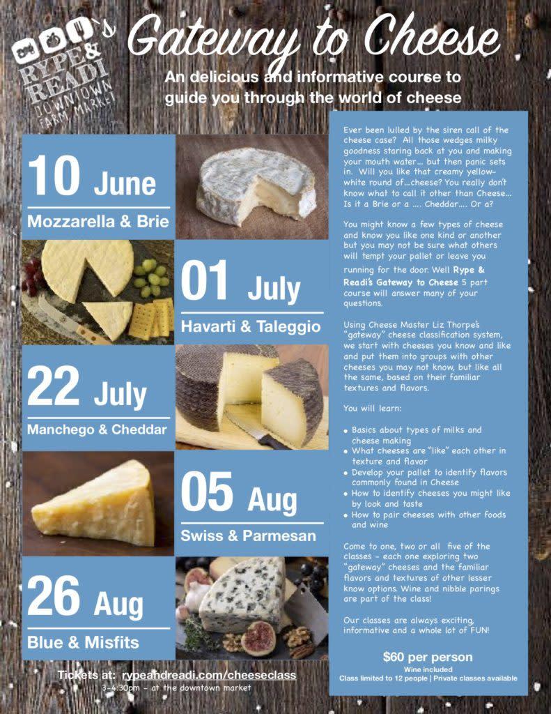 Rype and Readi Gateway to Cheese Seminars
