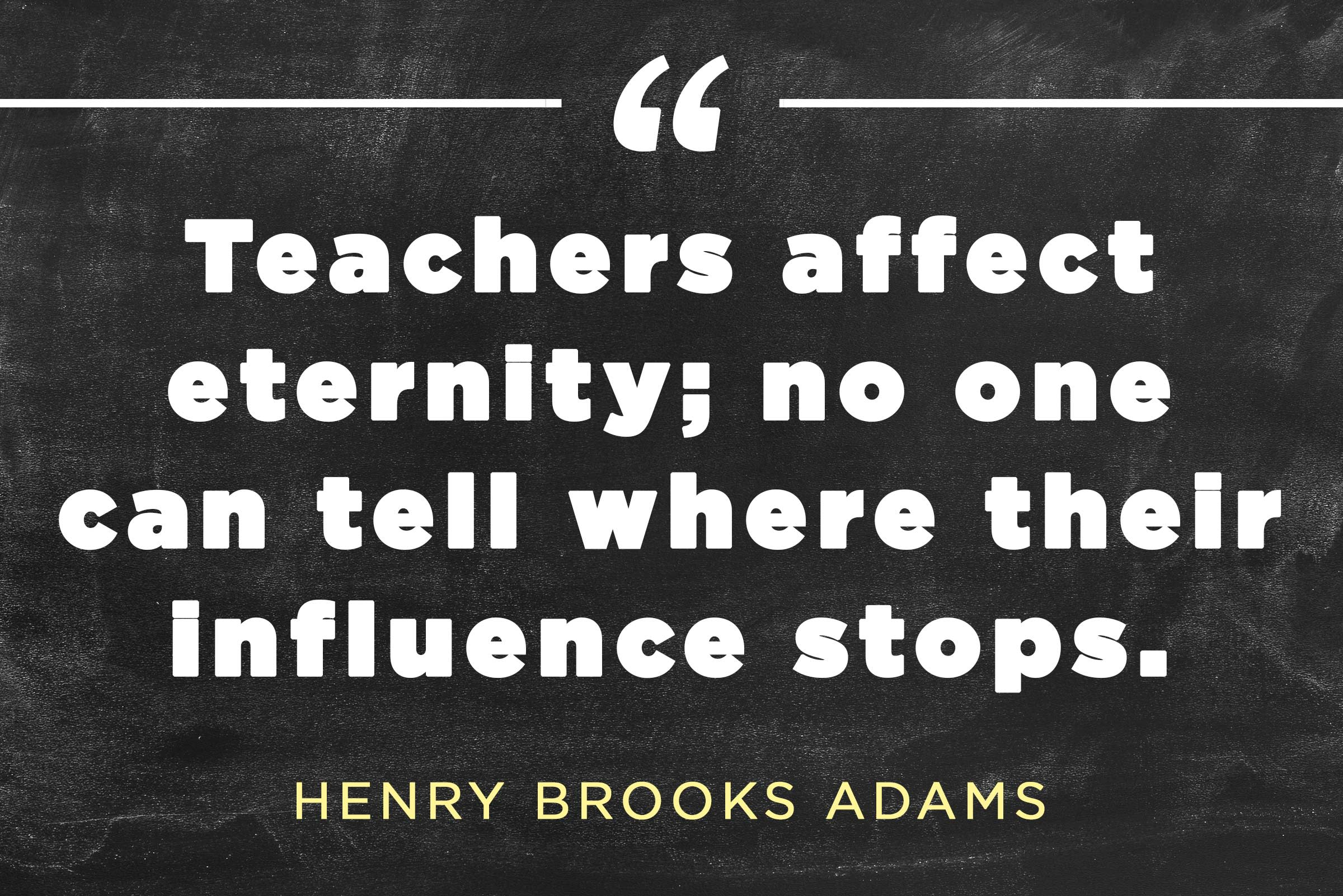 Readers Digest image Henry Brooks Adams quote about teachers