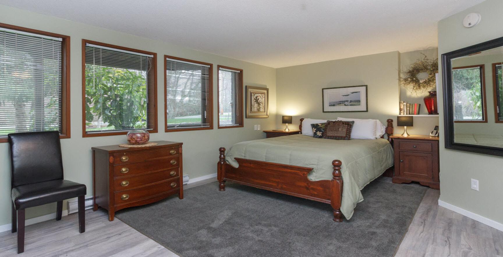 Large bedroom in Coles Bay Suite
