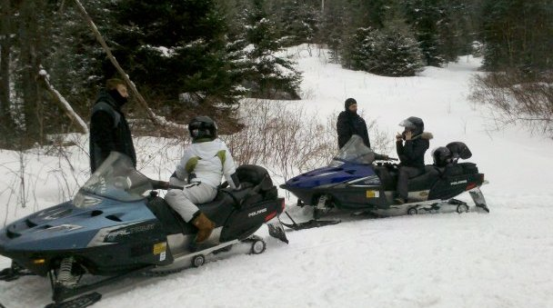 snowmobiling at the Wildflower Inn