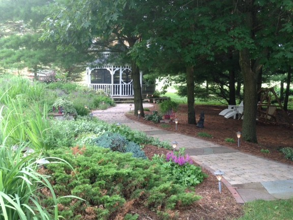 Pathway to Screened Gazebo
