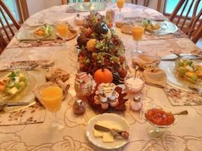 Fall Breakfast Table