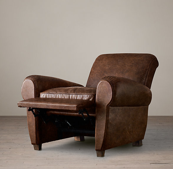 LEATHER CLUB RECLINER