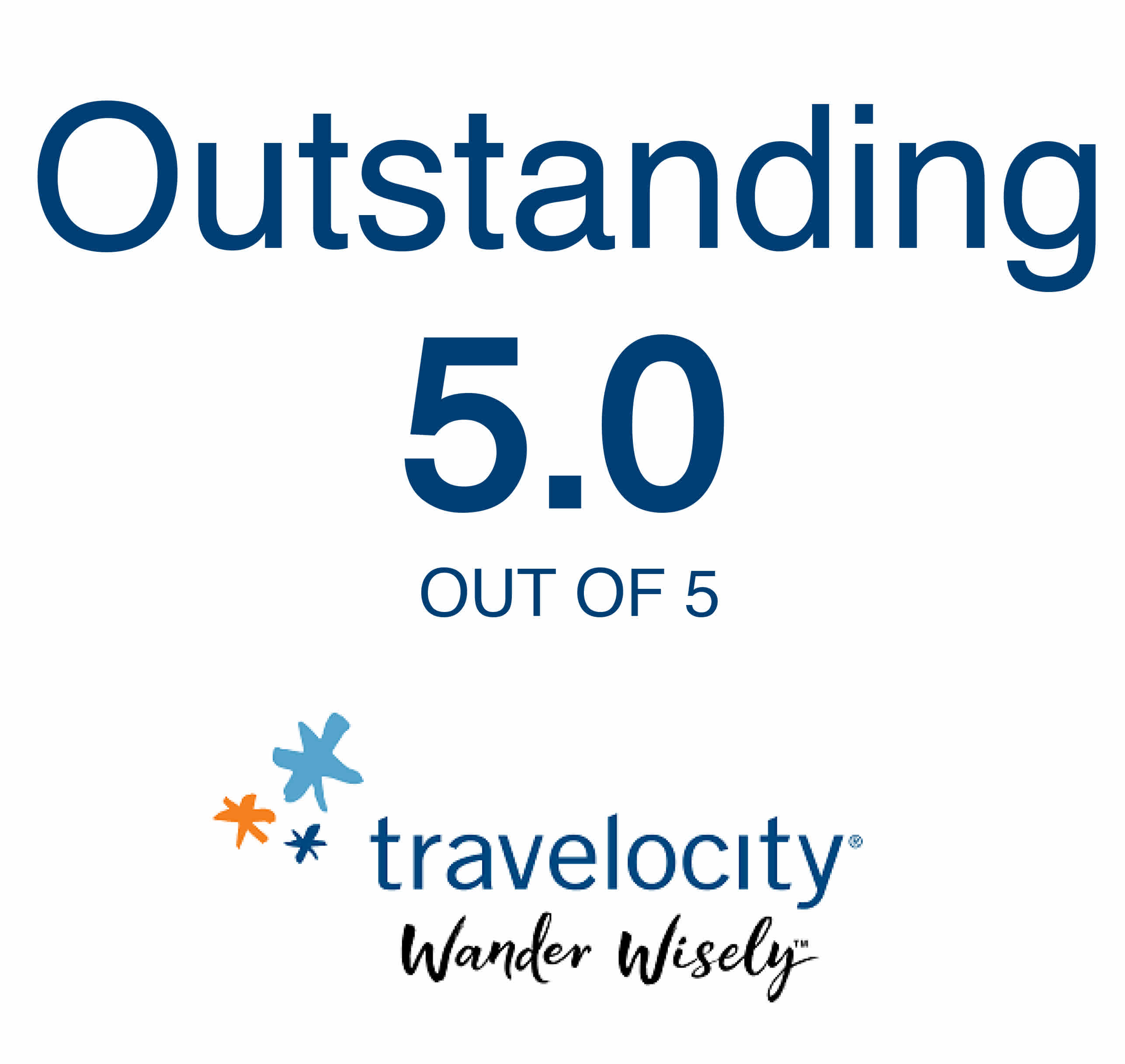 Outstanding rating from Travelocity.com