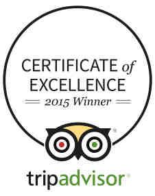 2015 TripAdvisor Certificate of Excellence Winner