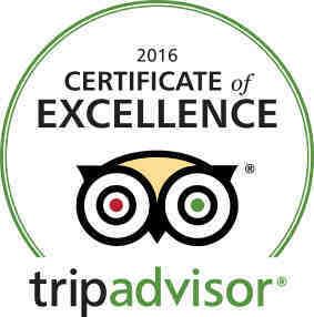 2016 TripAdvisor Certificate of Excellence Winner