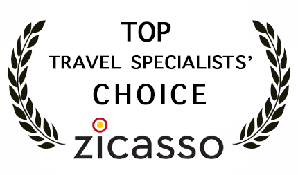 Zicasso's Top Travel Specialists Choice award