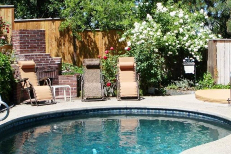Our Gardens, Pool and Jacuzzi