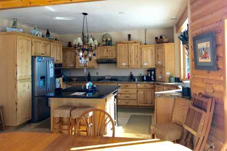 Large kitchen with lovely ammenities