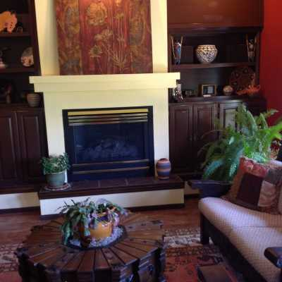 romantic fireplace at sedona views B&B