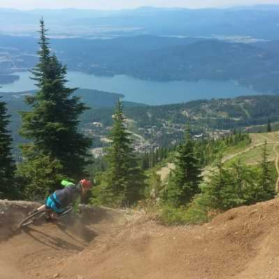Whitefish Mountain Resort Mountain Bike Trail with a View