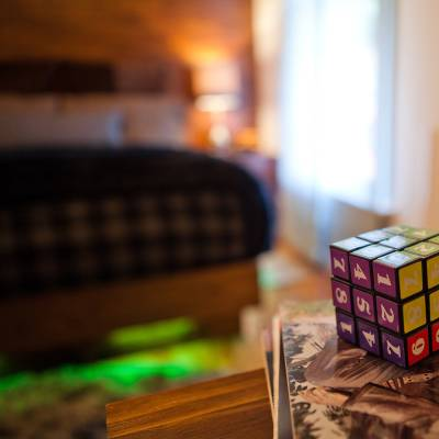 Rubix Cube on Desk