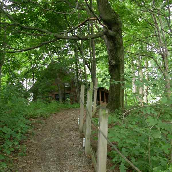 Path up to cabin