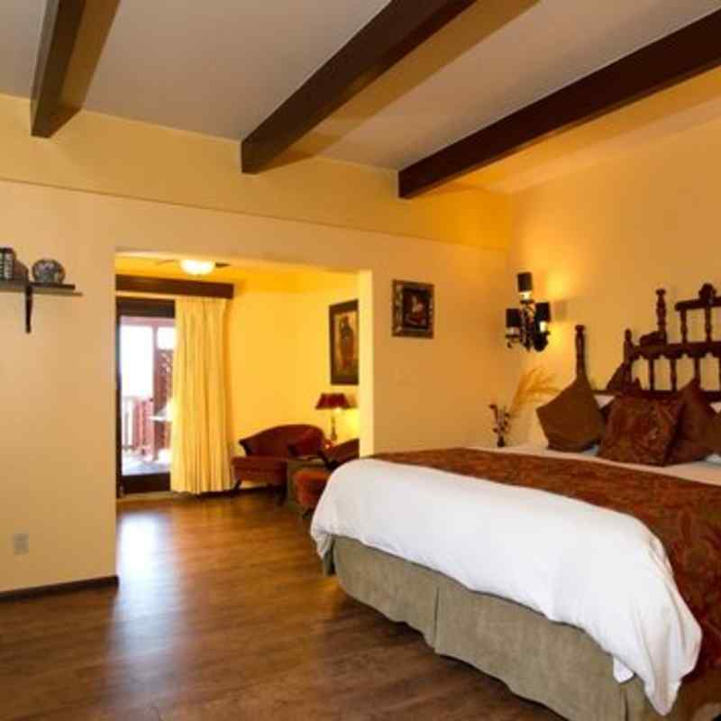 The master bed in the sunrise, Sunset Suite - Sedona Views B&B