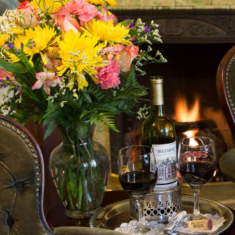 The Wright Inn creates a romantic evening by the fire